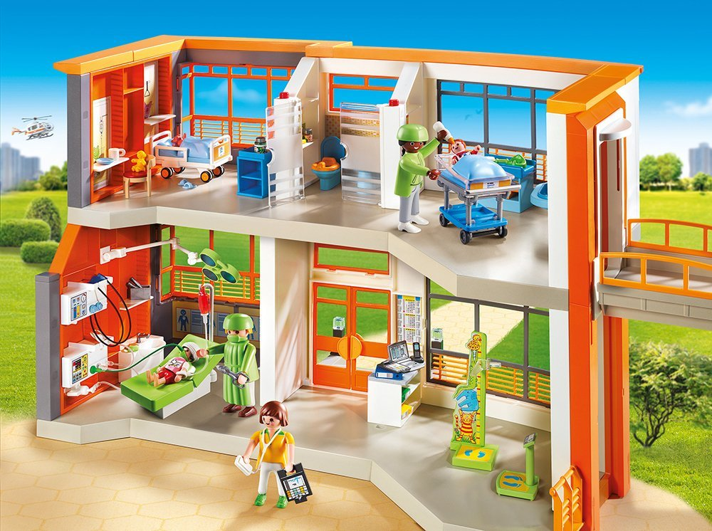 Playmobil 39 s children hospital gbp the deal for Salle a manger playmobil city life